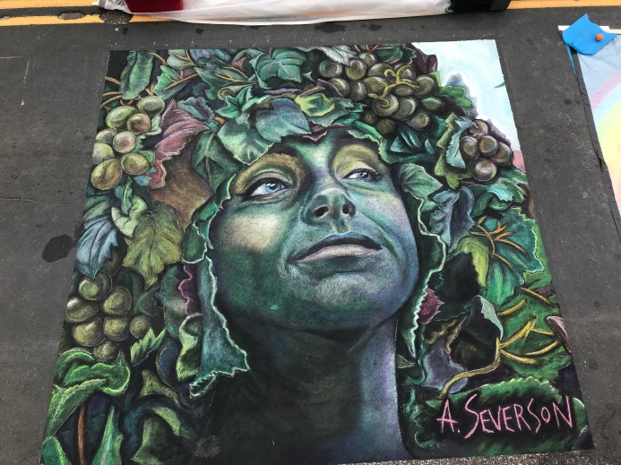 Created at Arbor Lakes Chalk Festival in Minnesota.  June 8 and 9, 2019.